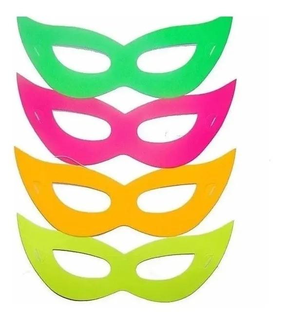 Mascara Neon Coloridas Sortidas Festa Balada Aniversario
