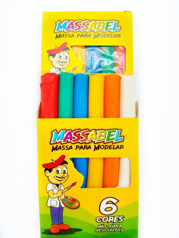 Massinha de Modelar 65grs  6 cores