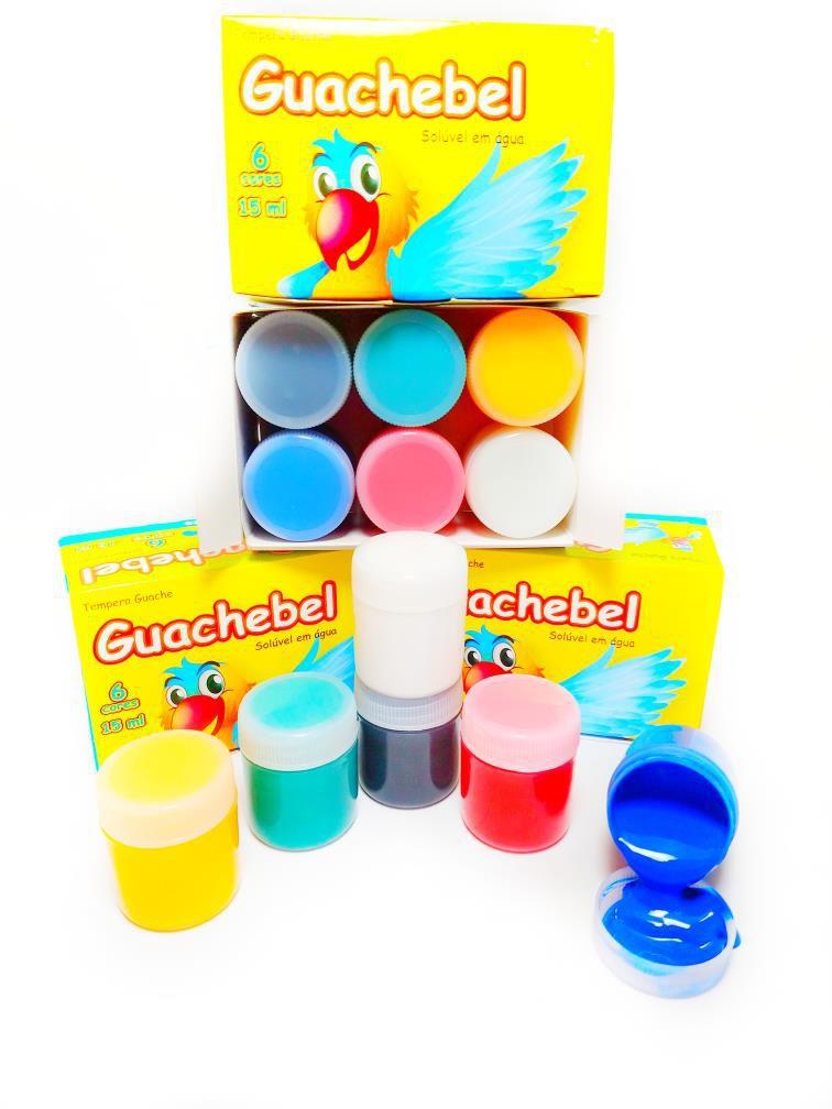 Tinta Guache  6 cores