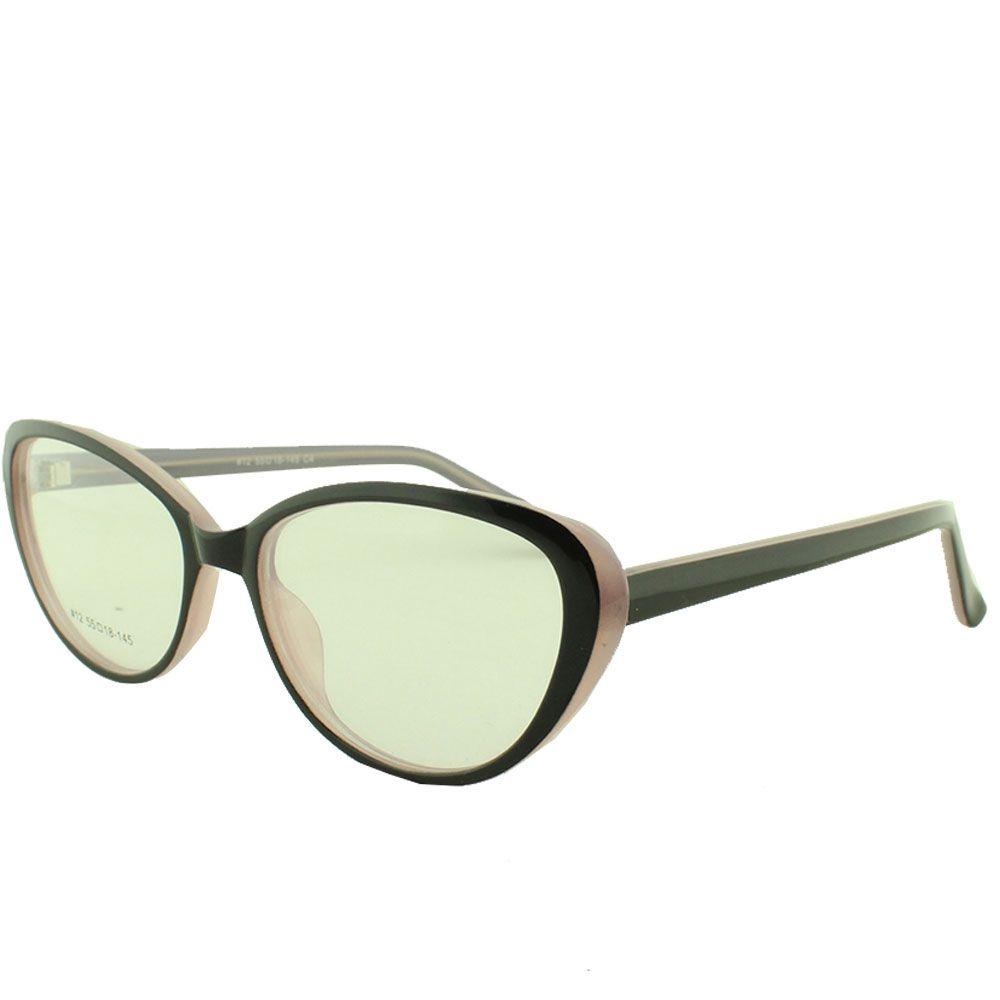 Armação para Óculos de Grau Feminino 12 Preta e Rosa