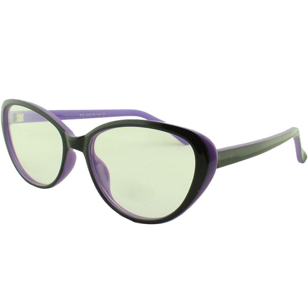 Armação para Óculos de Grau Feminino 12 Preta e Roxa