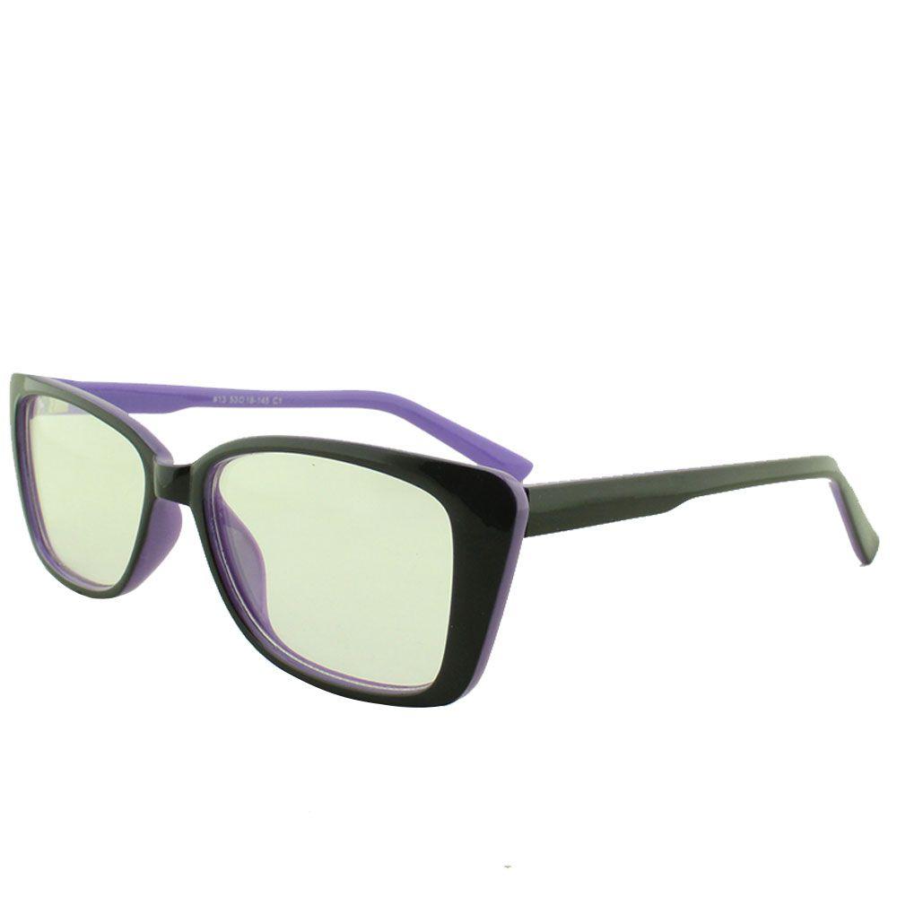 Armação para Óculos de Grau Feminino 13 Preta e Roxa