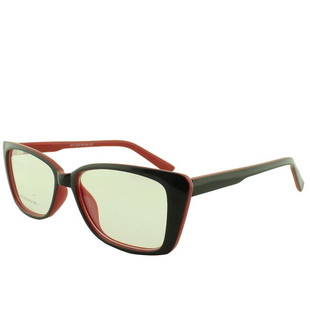 Armação para Óculos de Grau Feminino 13 Preta e Vermelha