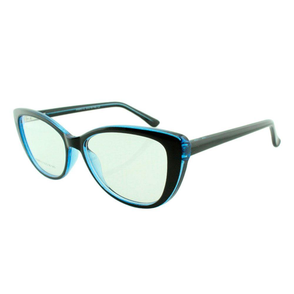 Armação para Óculos de Grau Feminino 312A Preta e Azul