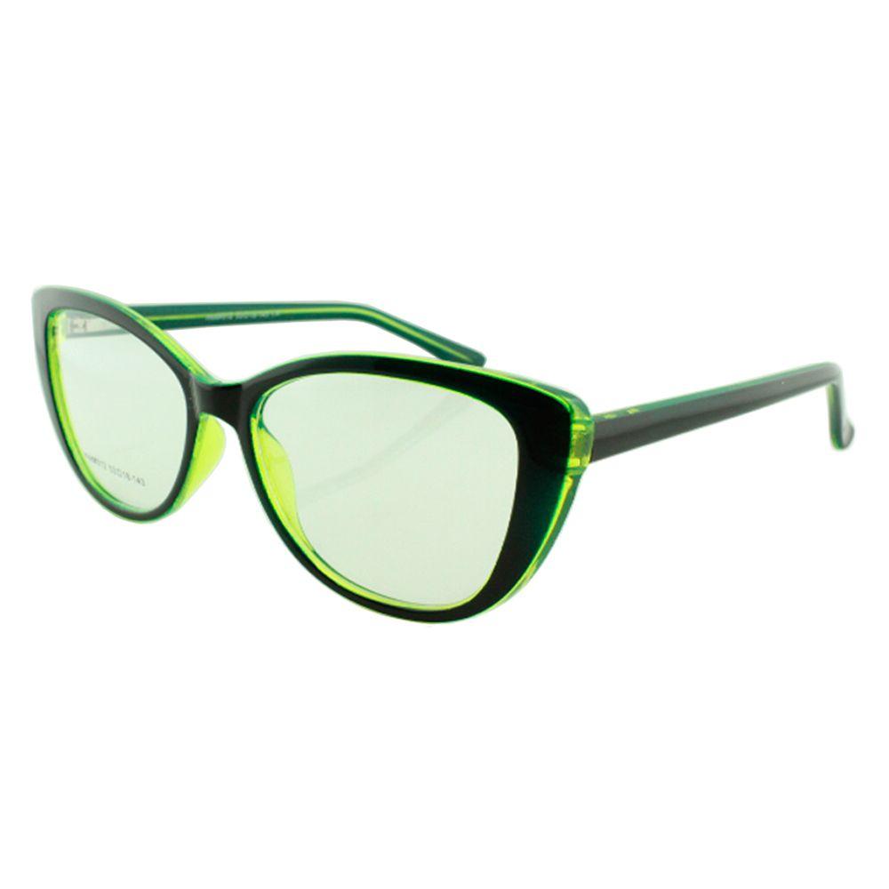 Armação para Óculos de Grau Feminino 312A Preta e Verde