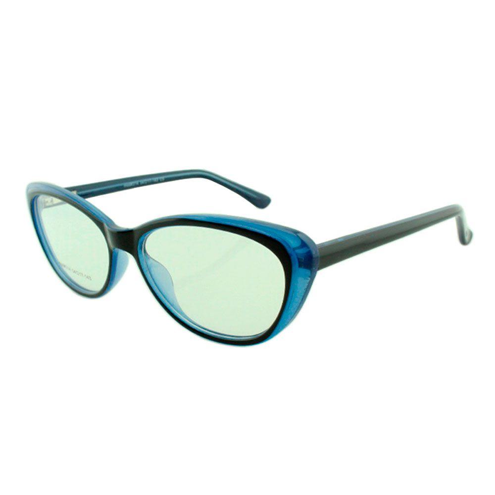 Armação para Óculos de Grau Feminino 314A Preta e Azul