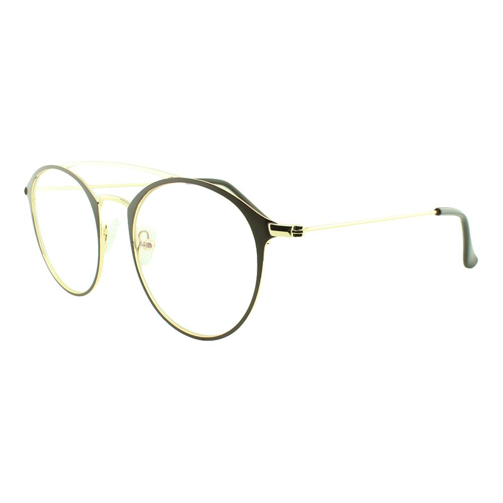 Armação para Óculos de Grau Feminino 5957 Dourada e Marrom