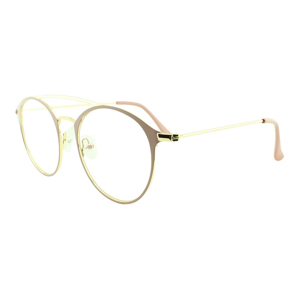 Armação para Óculos de Grau Feminino 5957 Dourada e Rosa