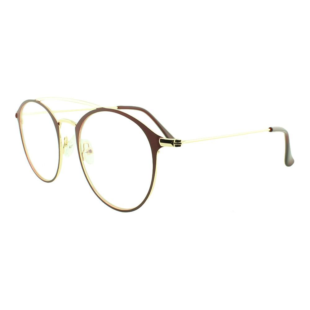 Armação para Óculos de Grau Feminino 5957 Dourada e Vinho