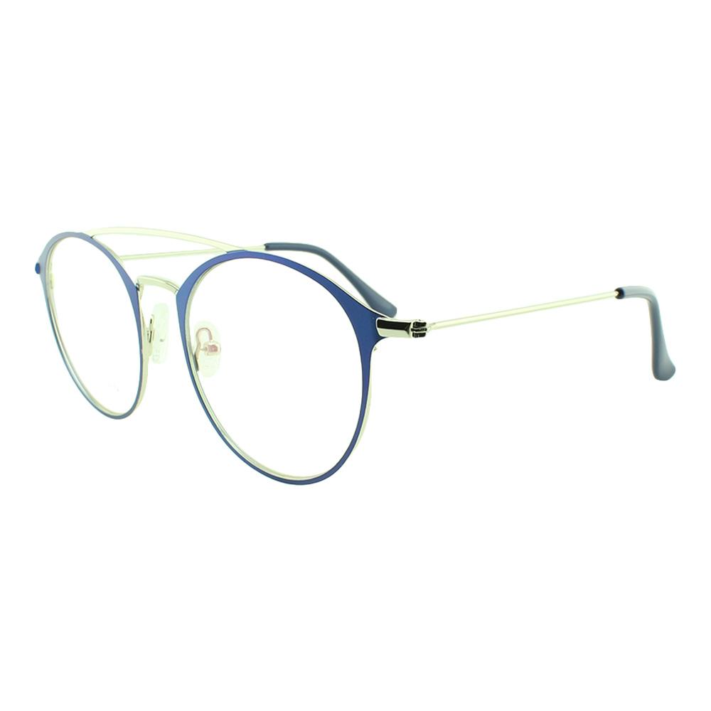 Armação para Óculos de Grau Feminino 5957 Prata e Azul