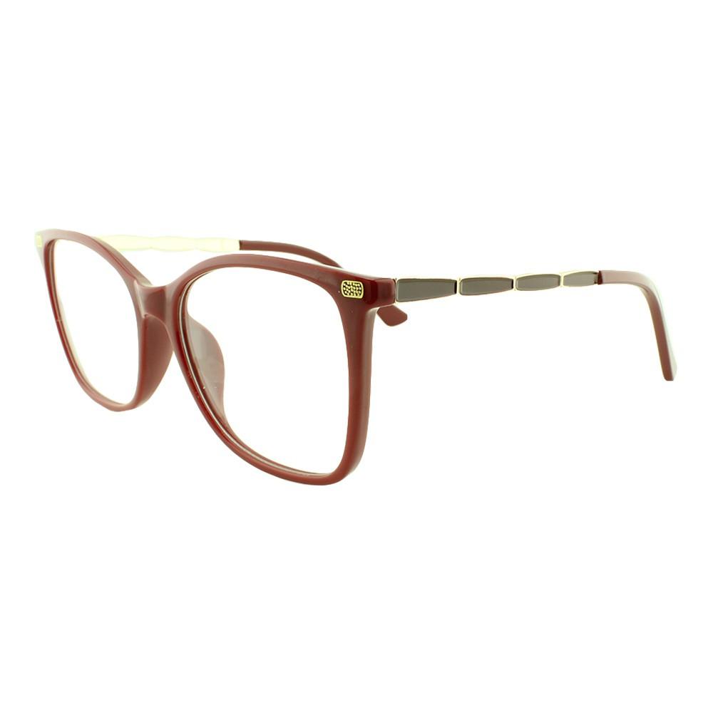 Armação para Óculos de Grau Feminino 6615 Vinho