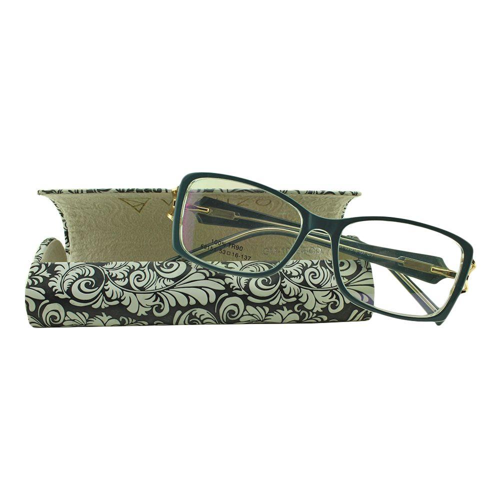 Armação para Óculos de Grau Feminino 68151 Azul com Estojo Vianzo