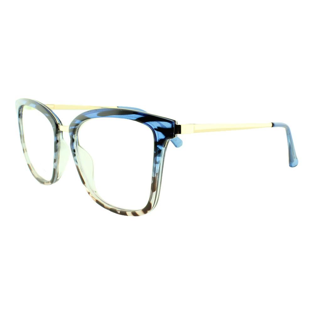 Armação para Óculos de Grau Feminino 68228 Azul Mesclada