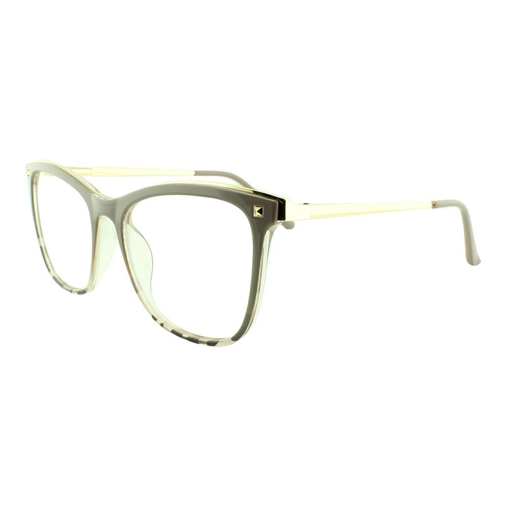 Armação para Óculos de Grau Feminino 68253 Nude Mesclada