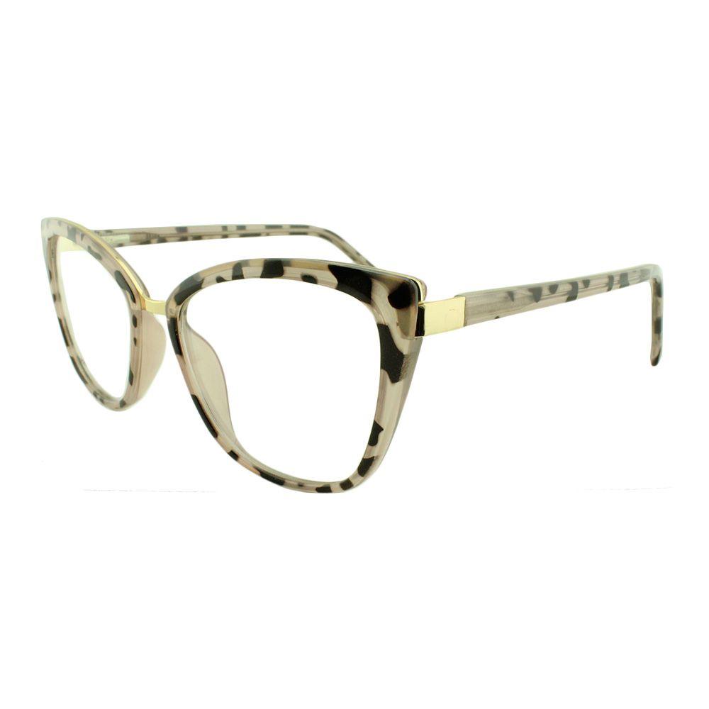 Armação para Óculos de Grau Feminino 68261 Rosa Mesclada
