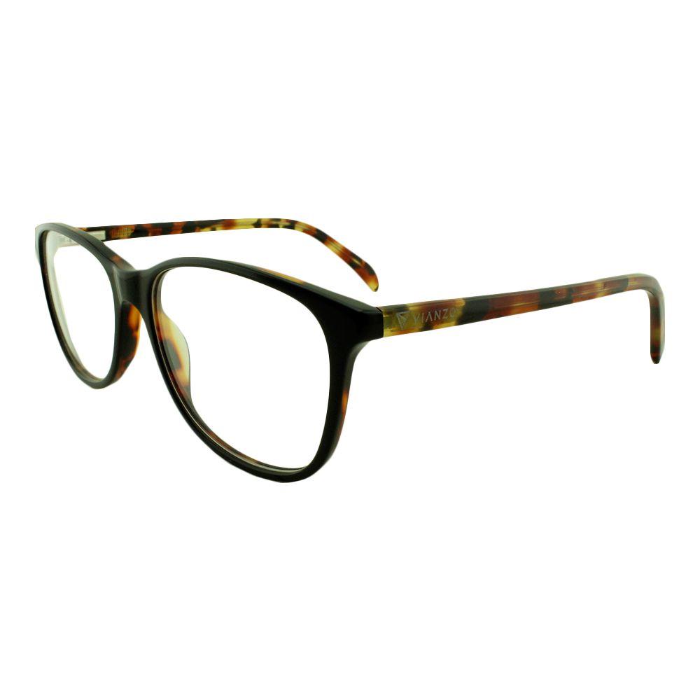 Armação para Óculos de Grau Feminino 8086 Preta Vianzo