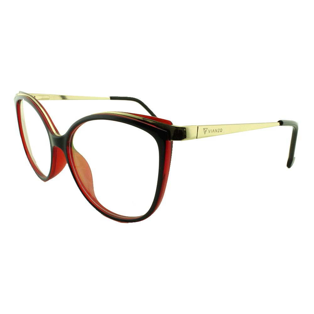Armação para Óculos de Grau Feminino 9032 Azul e Vermelha Vianzo