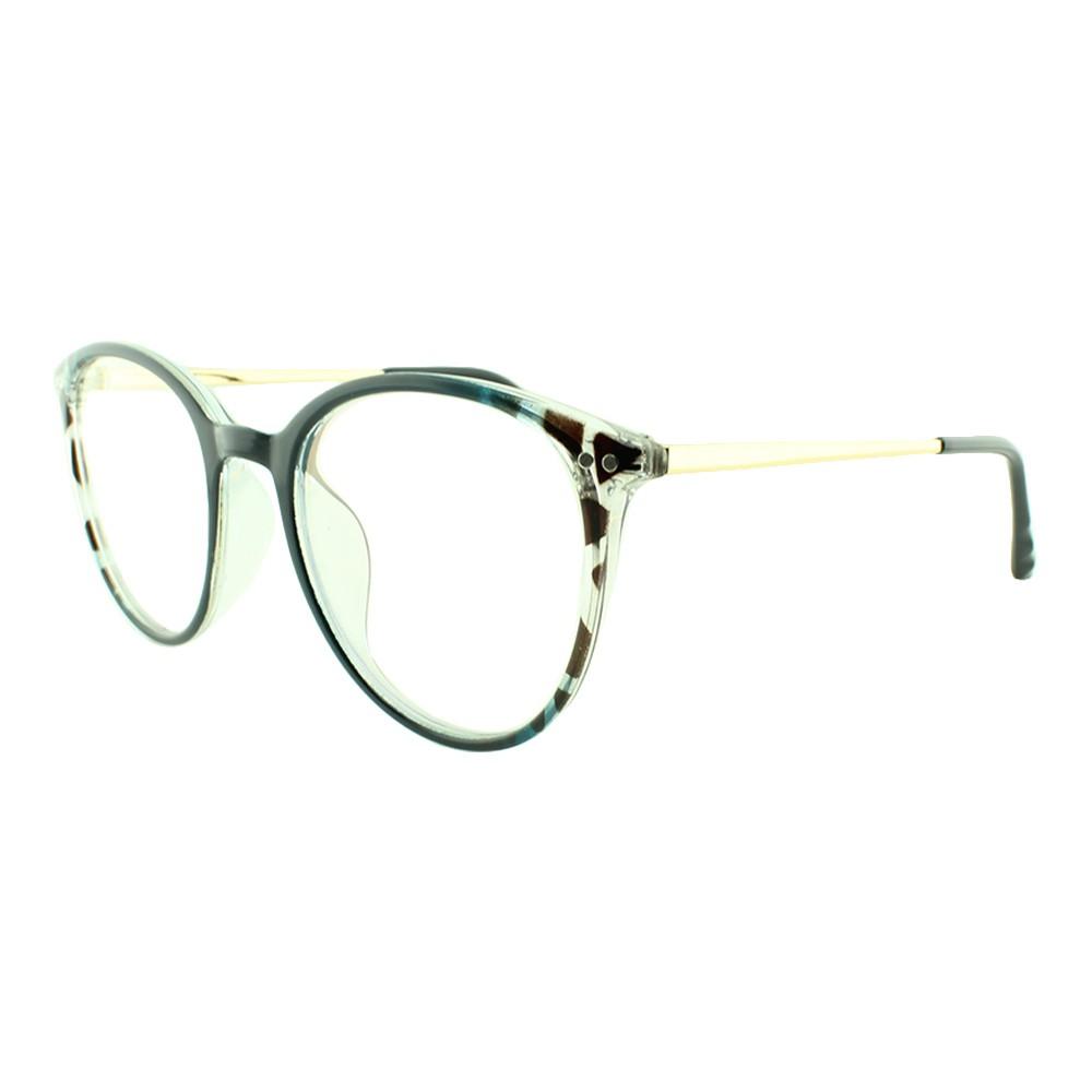 Armação para Óculos de Grau Feminino 9116 Azul Mesclada