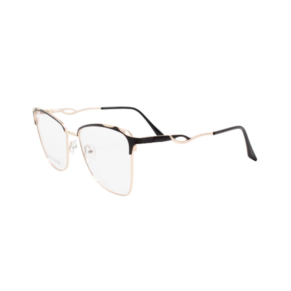 Armação para Óculos de Grau Feminino BR0752-C3 Dourada e Preta