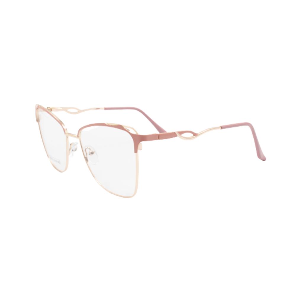 Armação para Óculos de Grau Feminino BR0752-C5 Dourada e Rosa