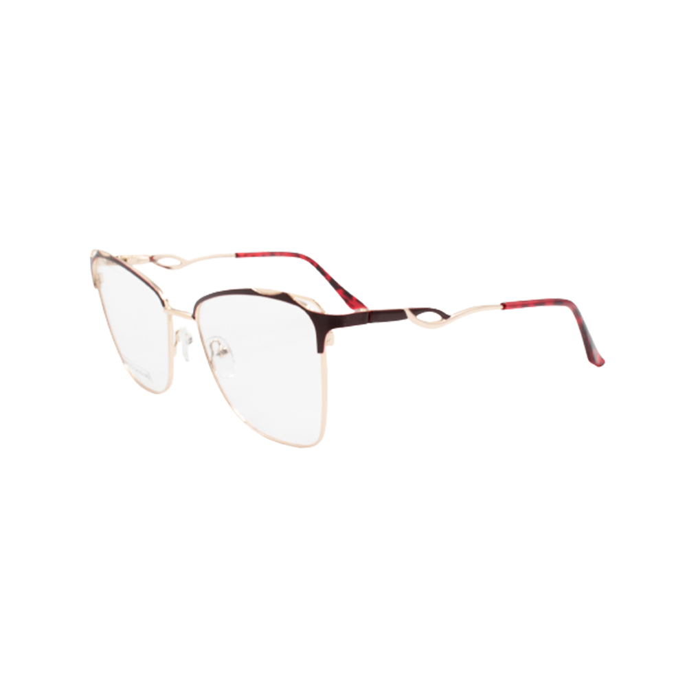 Armação para Óculos de Grau Feminino BR0752-C6 Dourada e Vermelha