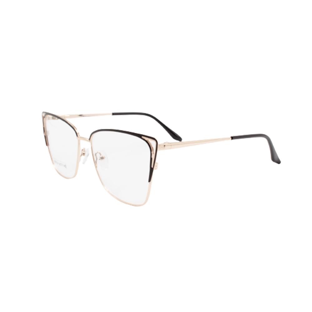 Armação para Óculos de Grau Feminino BR0754-C3 Dourada e Preta