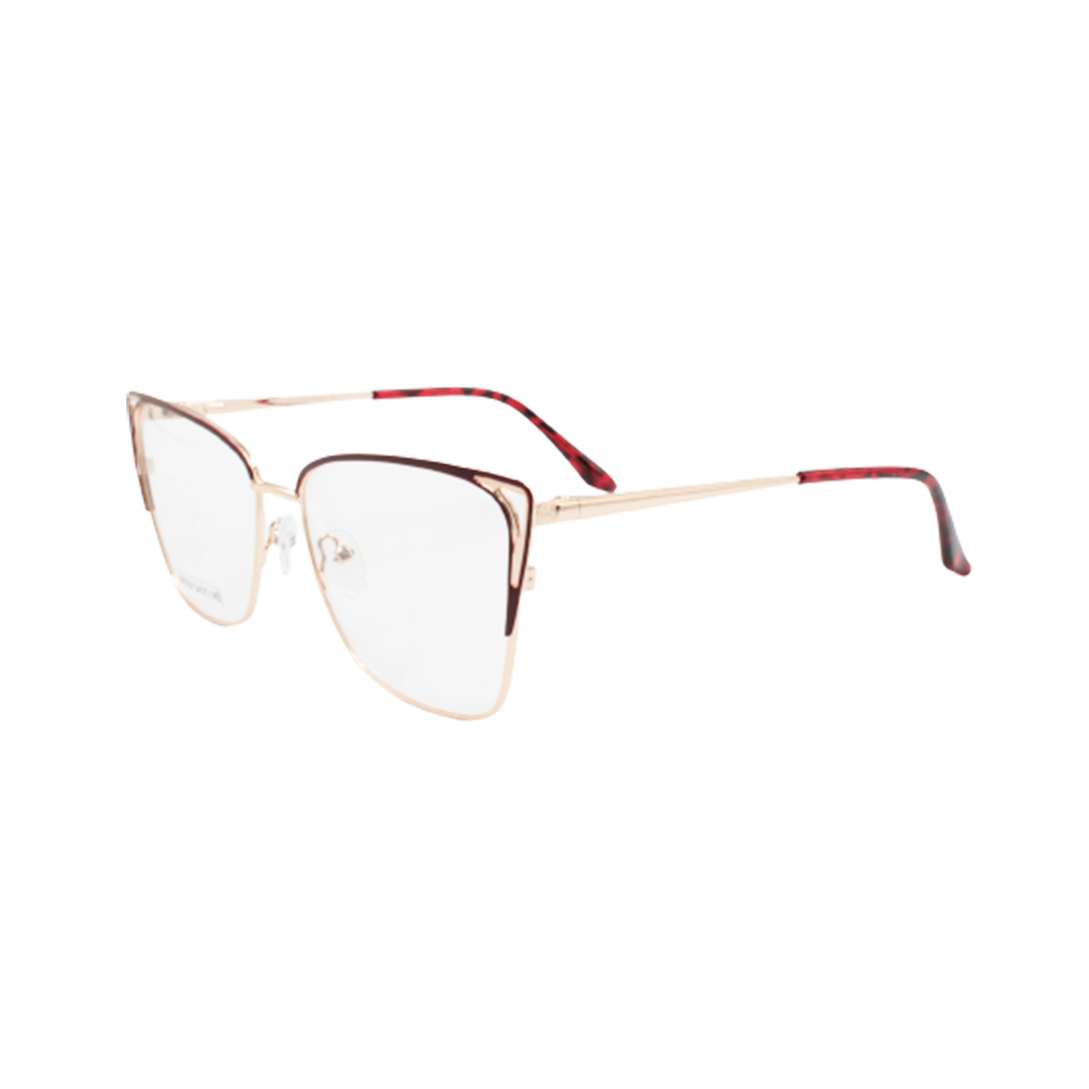 Armação para Óculos de Grau Feminino BR0754-C6 Dourada e Vermelha