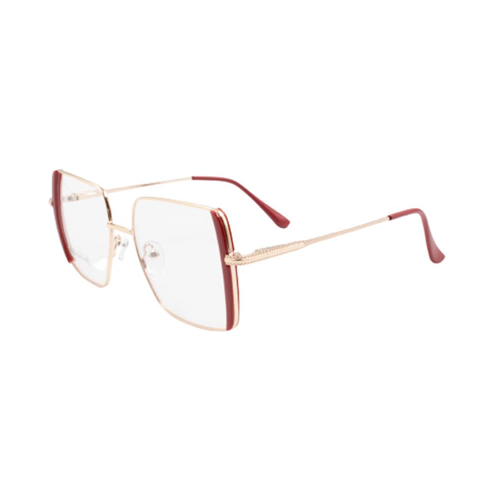 Armação para Óculos de Grau Feminino BR0784-C6 Dourada e Vermelha