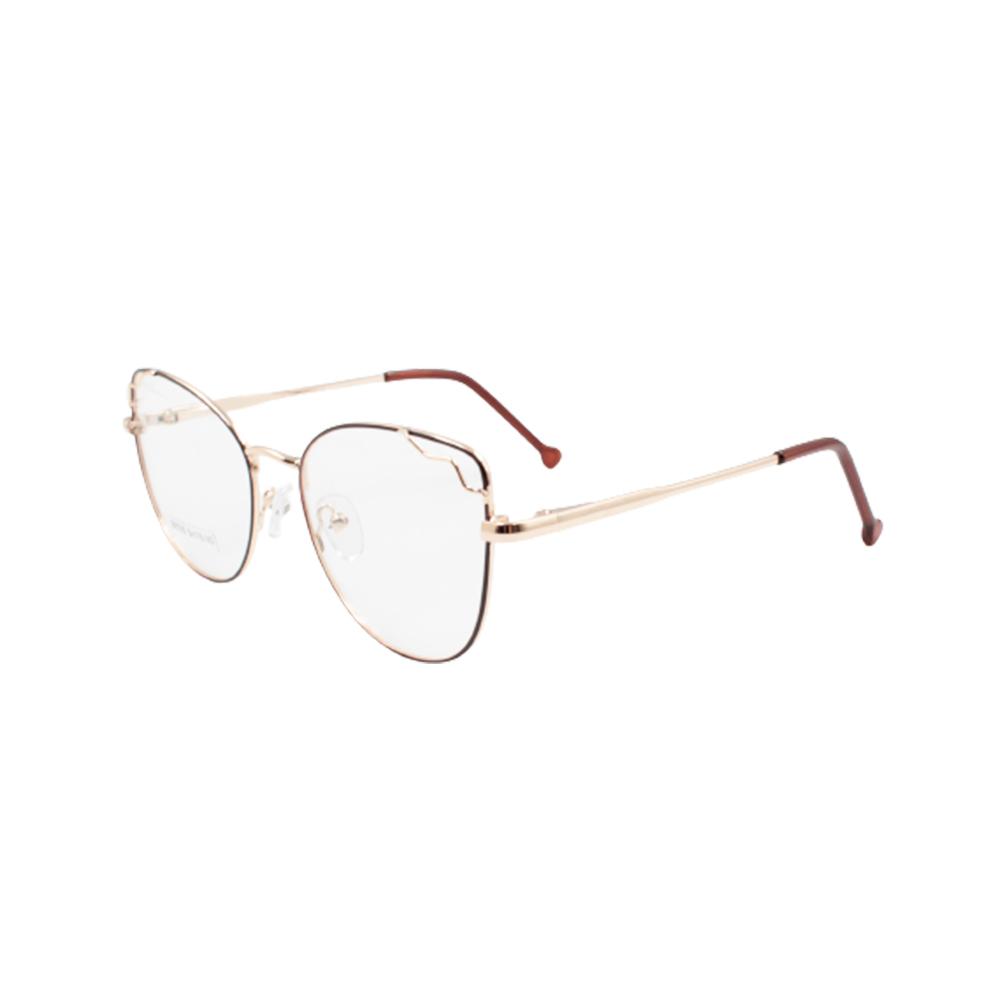 Armação para Óculos de Grau Feminino BR0785-C4 Dourada e Marrom