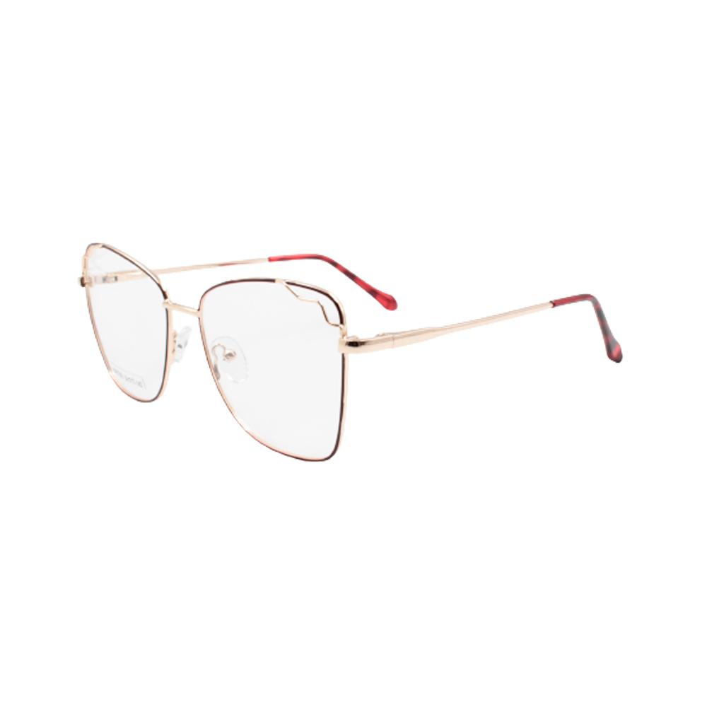 Armação para Óculos de Grau Feminino BR0786-C6 Dourada e Vermelha