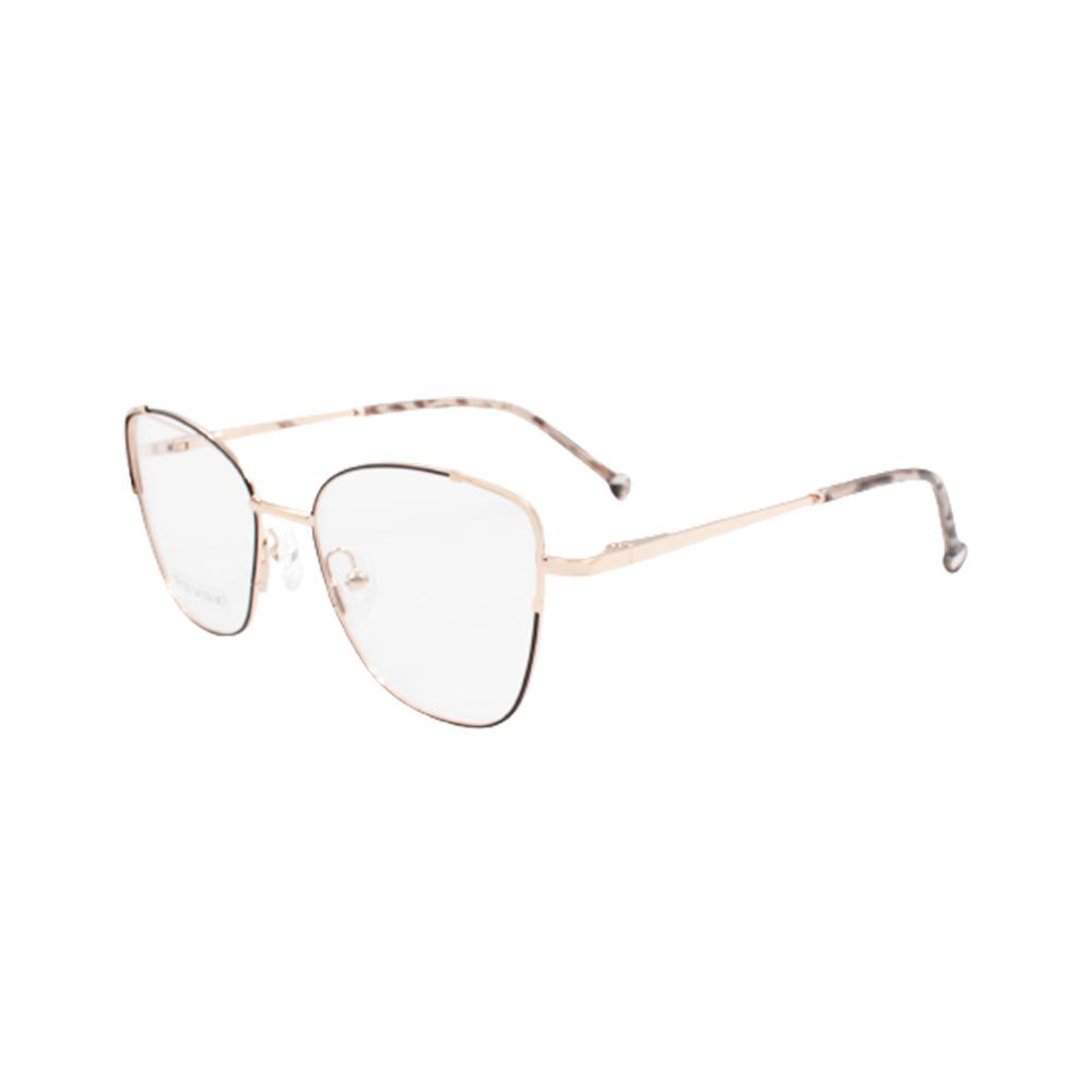 Armação para Óculos de Grau Feminino BR1007-C3 Dourada e Preta