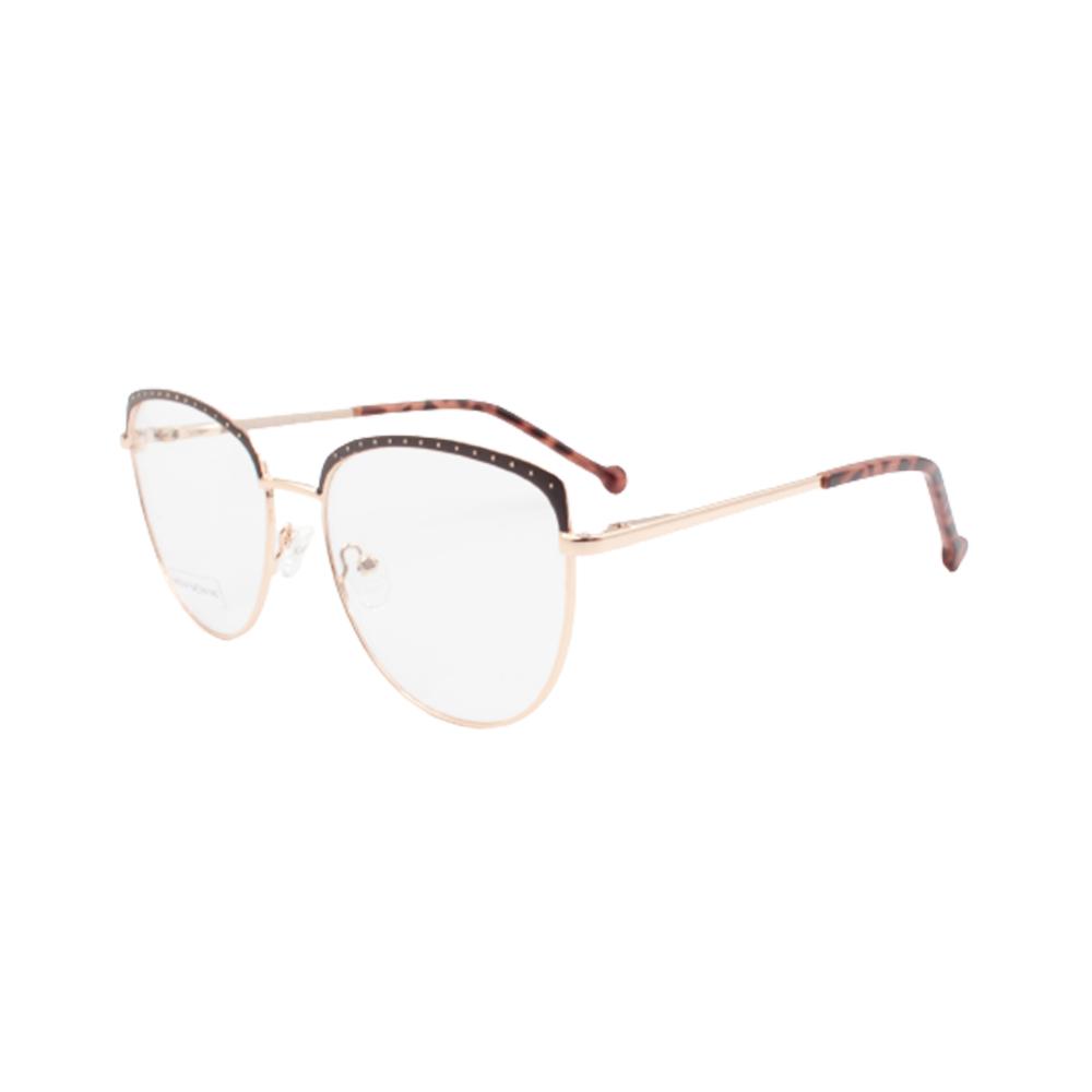 Armação para Óculos de Grau Feminino BR22141-C2 Dourada e Marrom