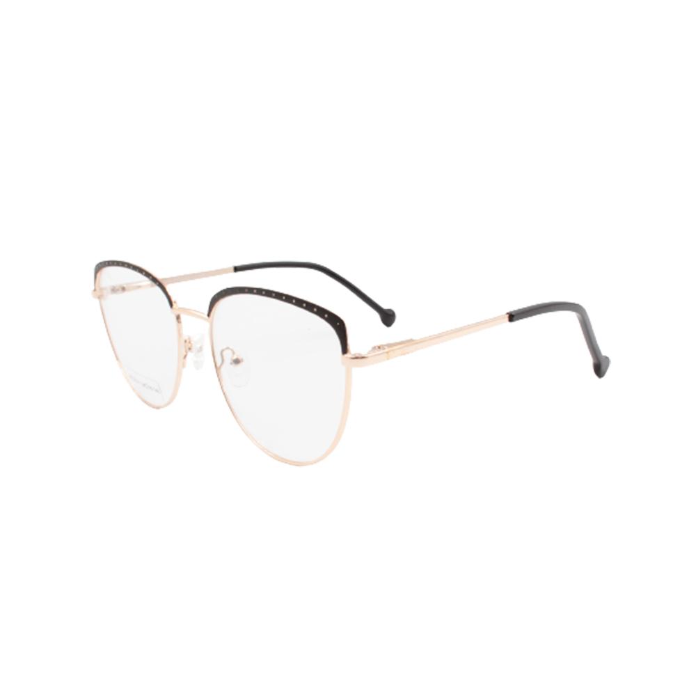 Armação para Óculos de Grau Feminino BR22141-C3 Dourada e Preta