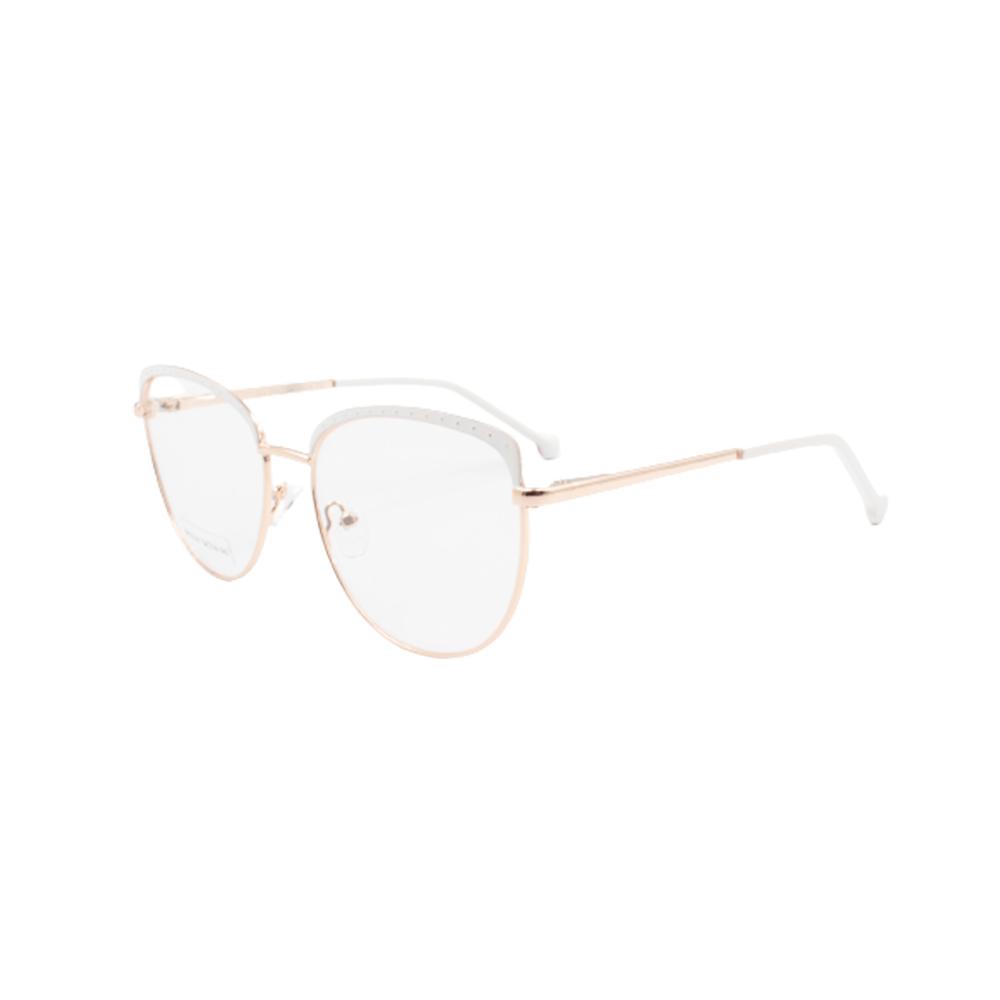 Armação para Óculos de Grau Feminino BR22141-C5 Dourada e Branca