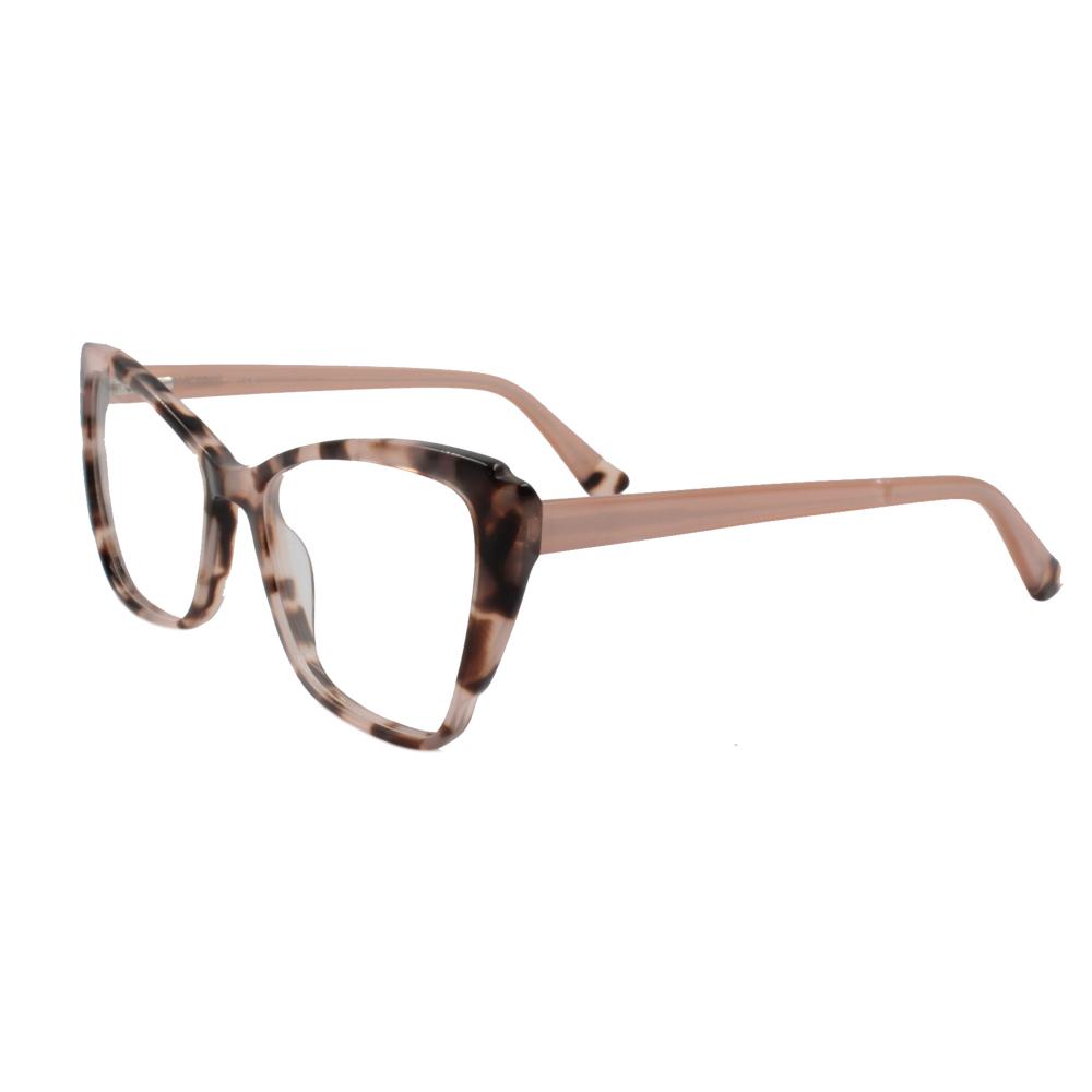 Armação para Óculos de Grau Feminino BR2507-C4 Rosa Mesclada em Acetato