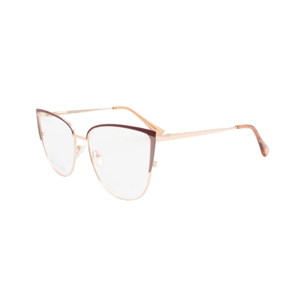 Armação para Óculos de Grau Feminino BR8047-C2 Dourada e Marrom