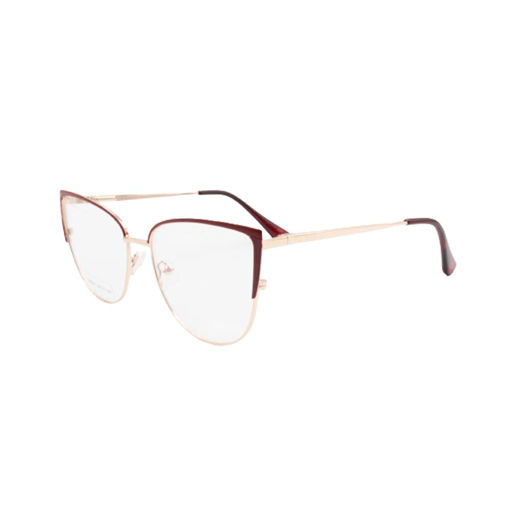 Armação para Óculos de Grau Feminino BR8047-C3 Dourada e Vermelha
