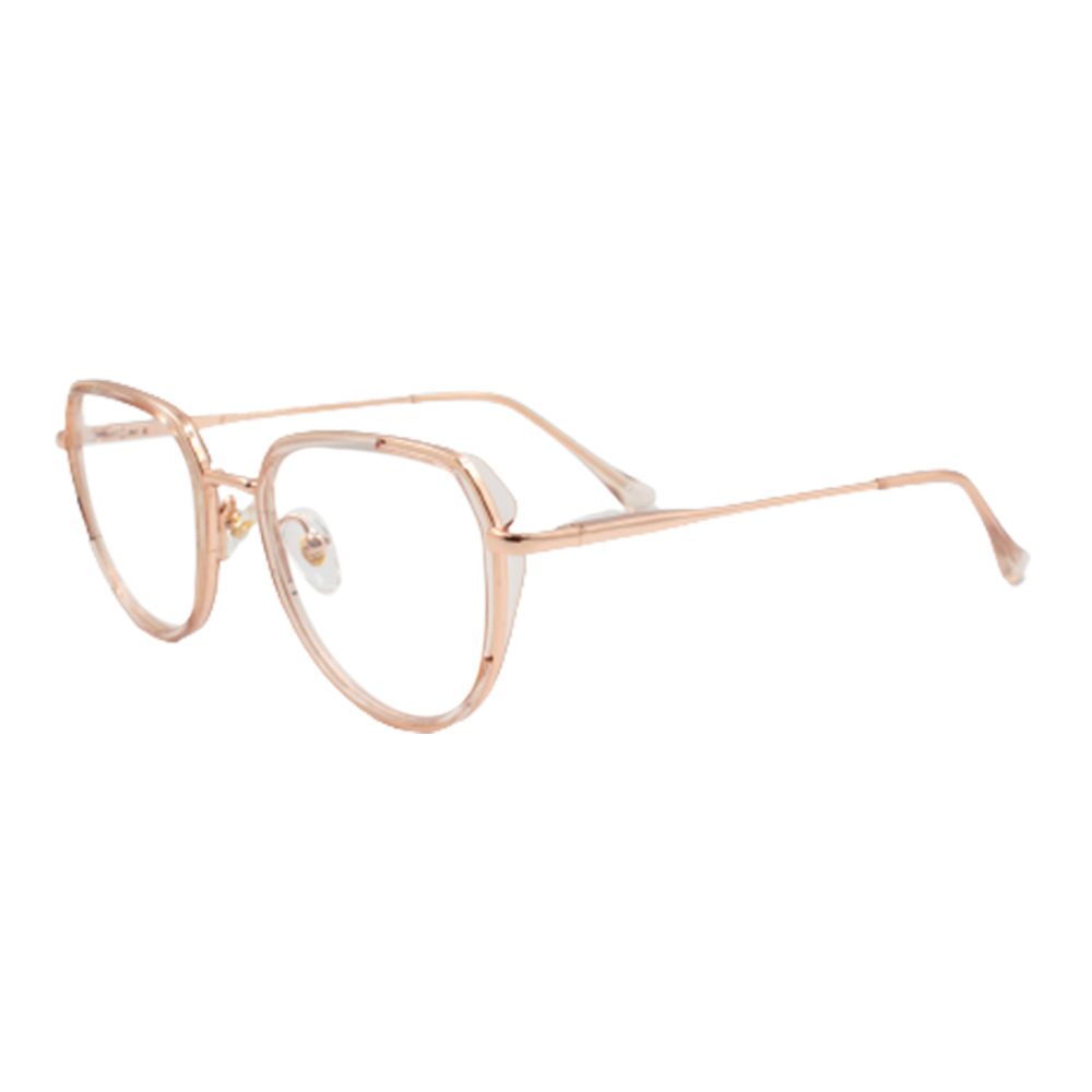 Armação para Óculos de Grau Feminino BR98194-C1 Dourada e Rosé Translúcida