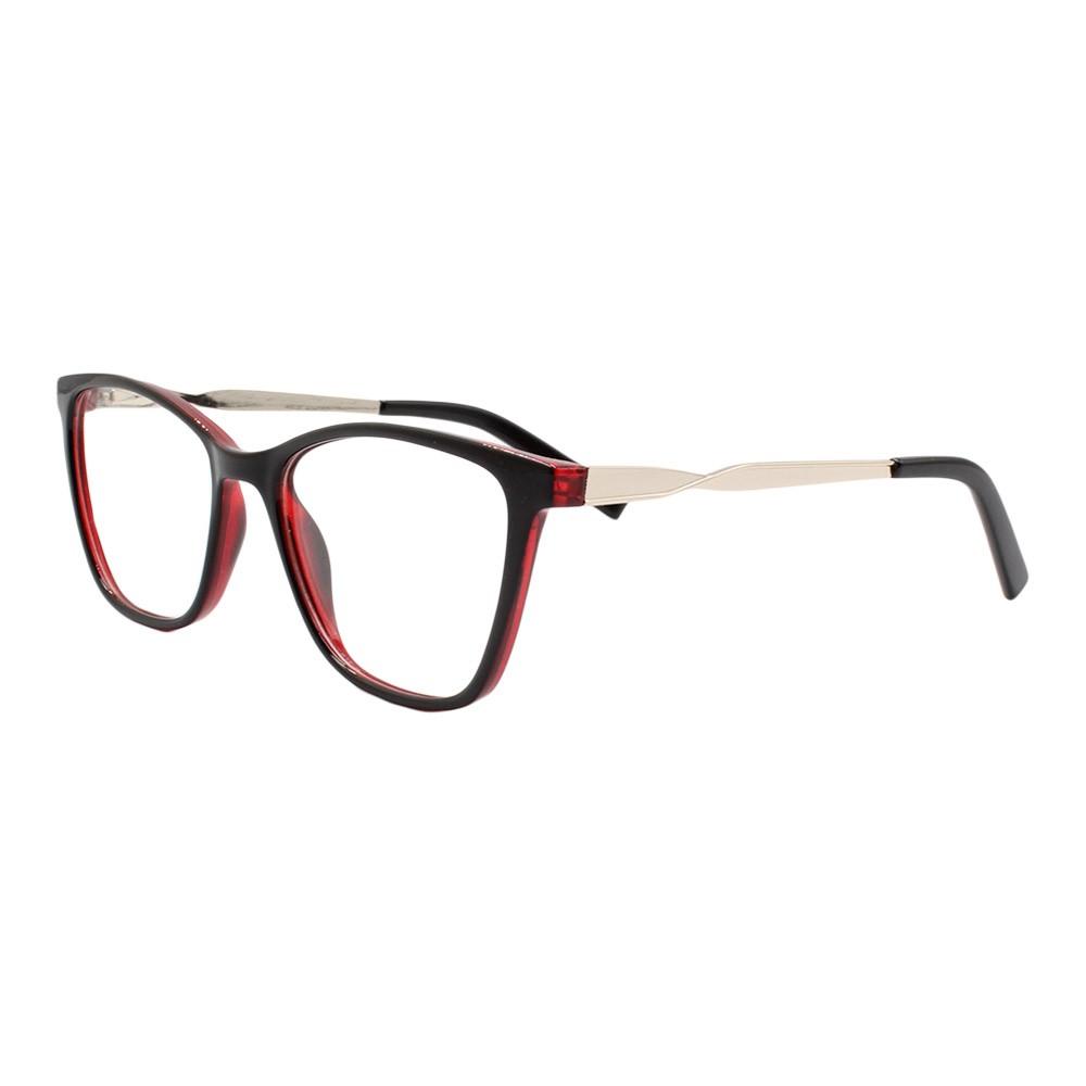 Armação para Óculos de Grau Feminino BR99062 Preta e Vermelha