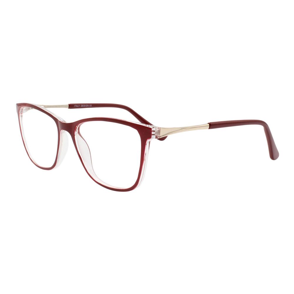 Armação para Óculos de Grau Feminino BR99066 Vinho