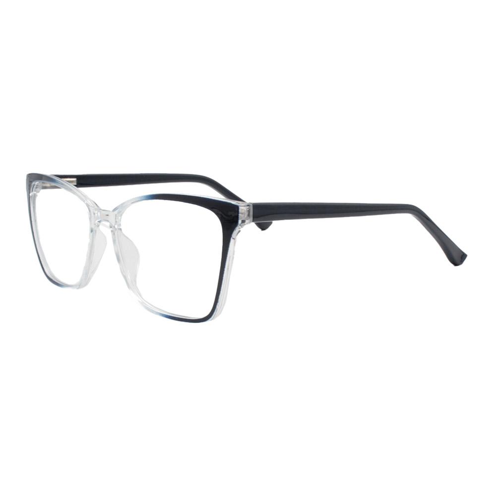 Armação para Óculos de Grau Feminino CFA5014 Azul e Transparente