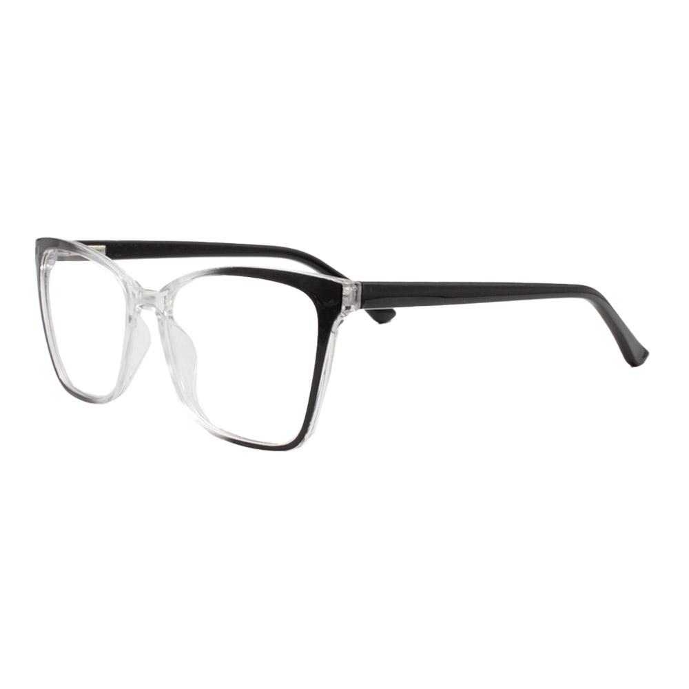 Armação para Óculos de Grau Feminino CFA5014 Preta e Transparente