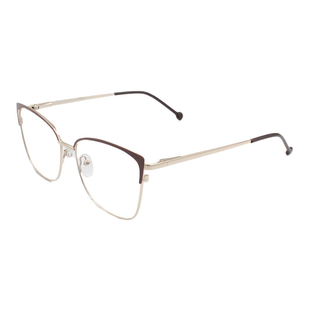 Armação para Óculos de Grau Feminino CFB7000 Dourada e Marrom