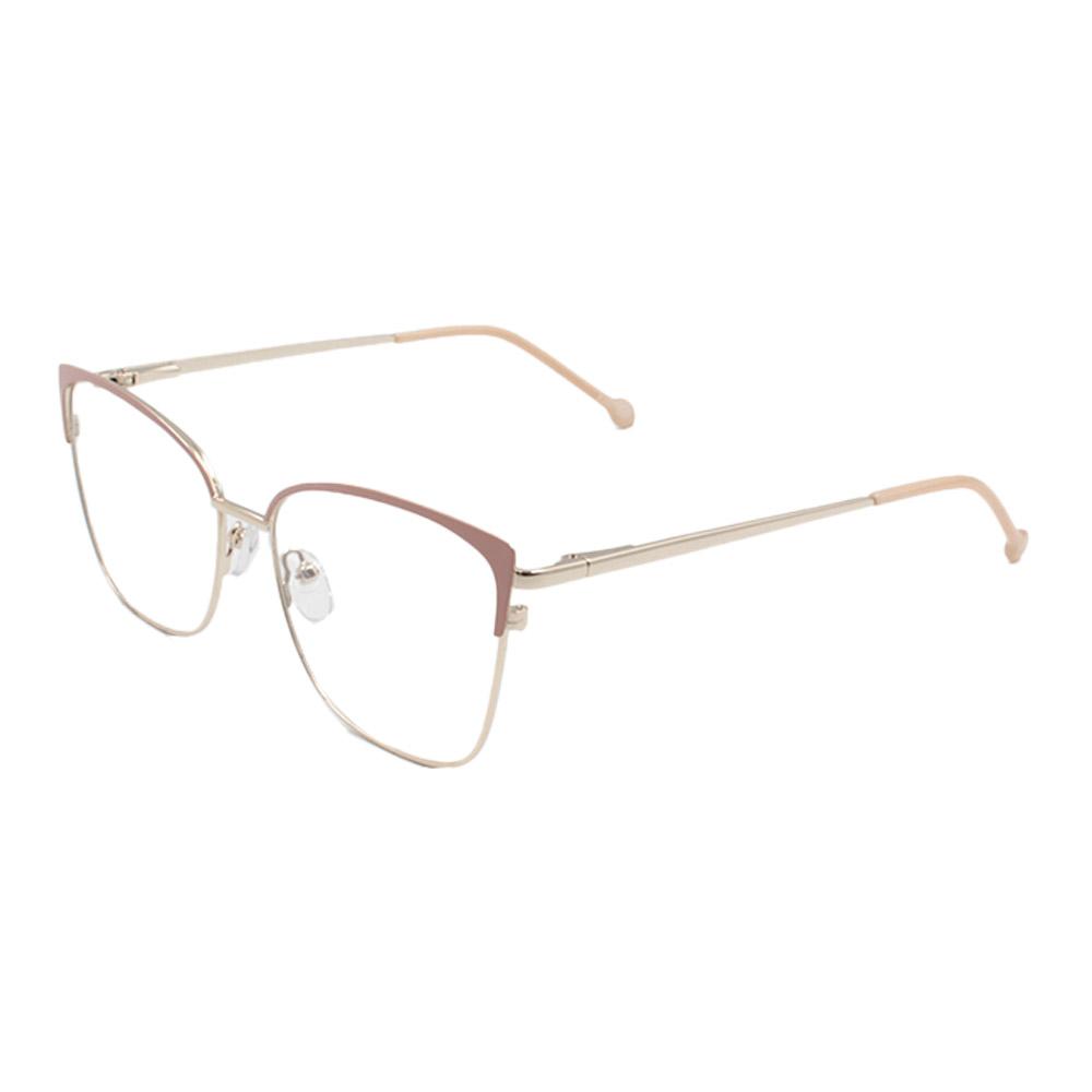 Armação para Óculos de Grau Feminino CFB7000 Dourada e Nude