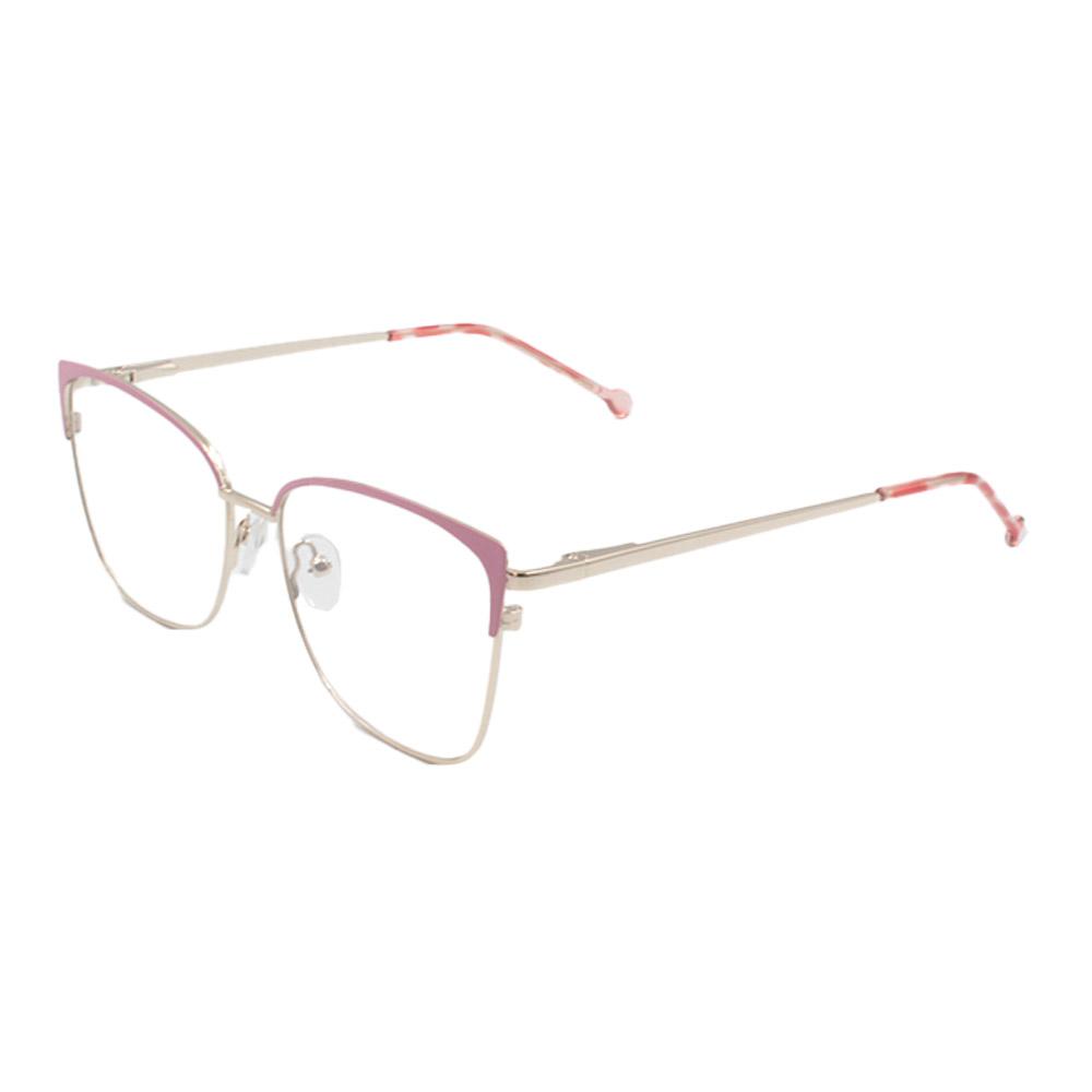Armação para Óculos de Grau Feminino CFB7000 Dourada e Rosa