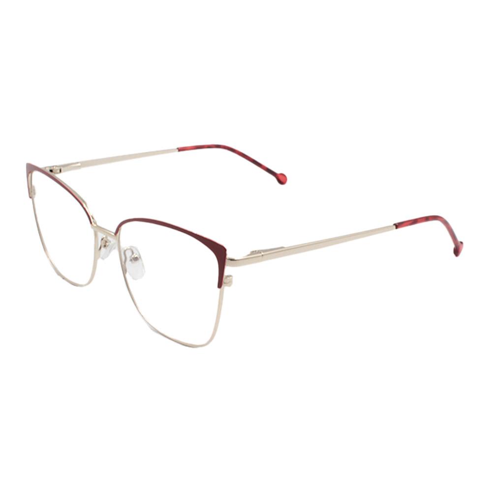 Armação para Óculos de Grau Feminino CFB7000 Dourada e Vermelha