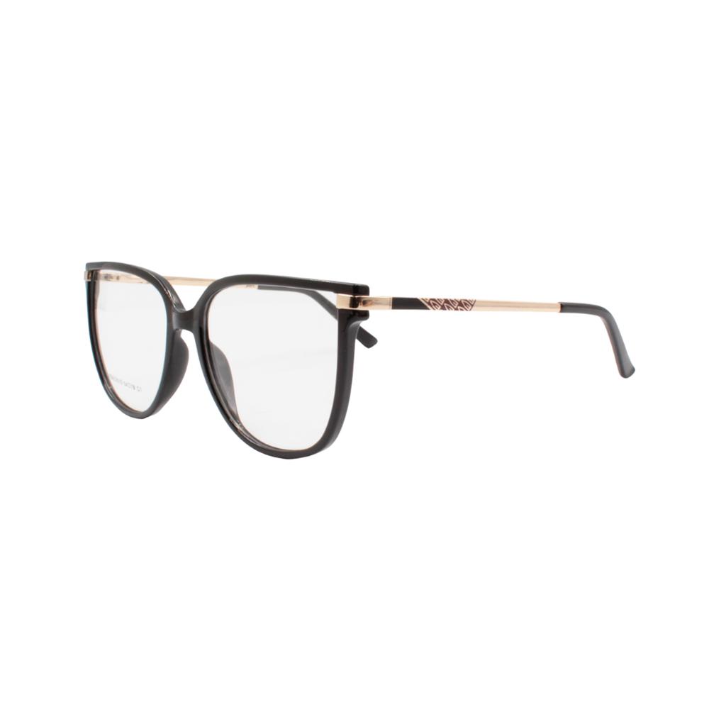 Armação para Óculos de Grau Feminino FD633019-C1 Preta