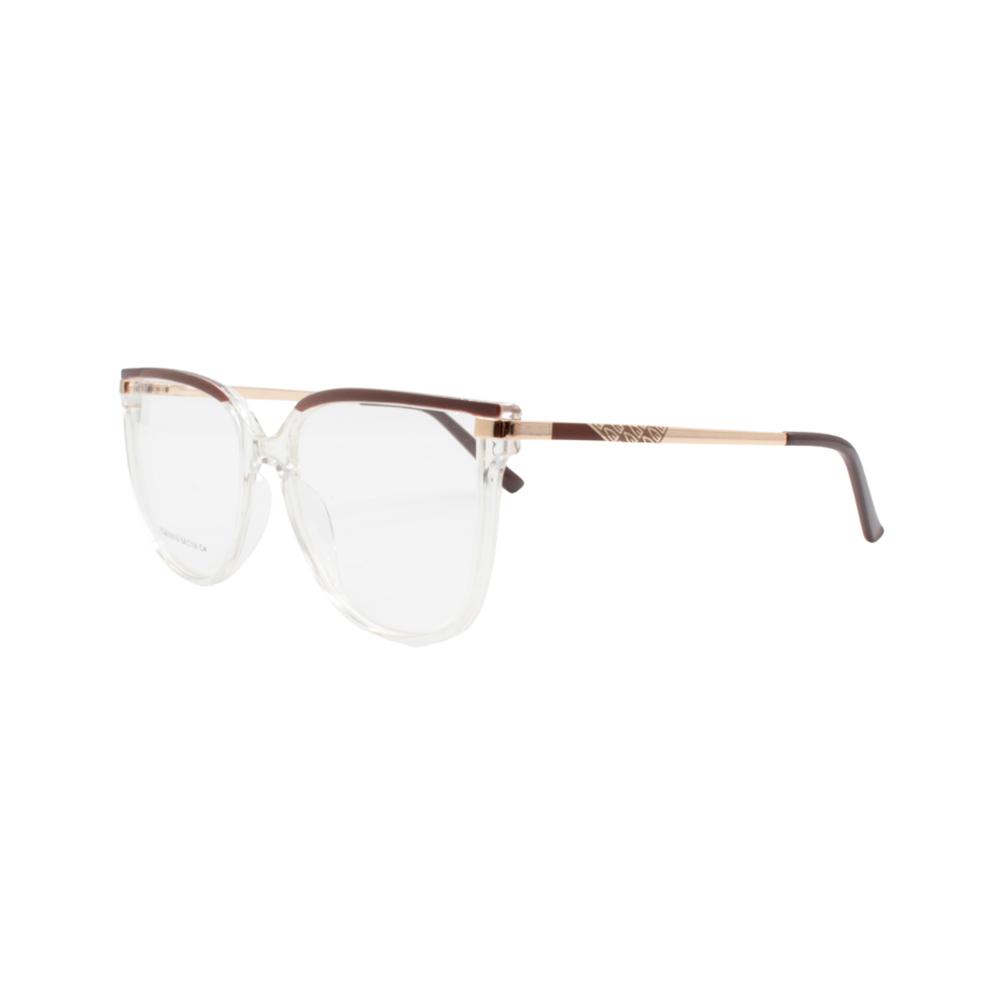Armação para Óculos de Grau Feminino FD633019-C4 Transparente e Marrom