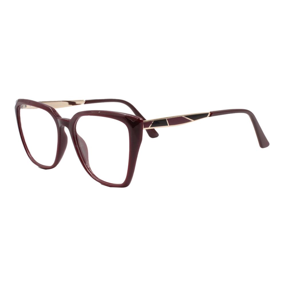 Armação para Óculos de Grau Feminino FD633049 Vinho