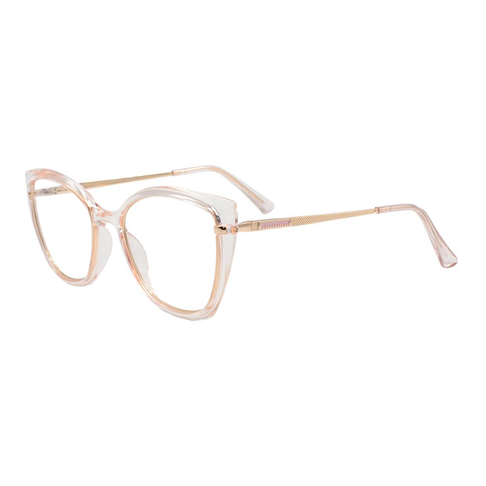 Armação para Óculos de Grau Feminino FD633056 Laranja